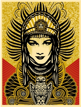 "Shepard Fairey ""Peace Goddess,"" 2007"