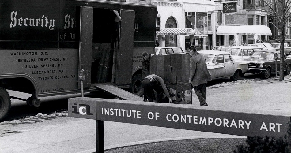 ICA Location 100 Newbury St, 1963
