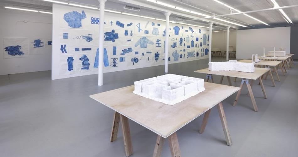 Installation view, Jennifer Bornstein: New Rubbing & Psychological Tests, Gavin Brown's enterprise,