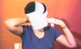 Howardena Pindell, Still from Free, White and 21, 1980. Color video (12:15 minutes)