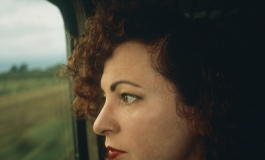 Nan Goldin, Self-Portrait on the Train, Germany, 1992