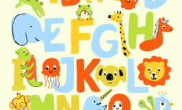 An illustration of the alphabet with animals.