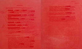 Jenny Holzer, Enclosure (Deep Red), 2006