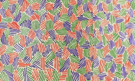 Purple, green, and orange stripes on a white piece of paper.